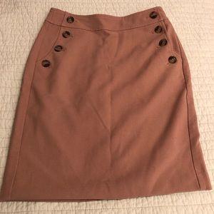 Ann Taylor loft beige/tan skirts w/button pockets